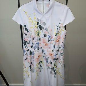 Ted Baker beautiful floral collard dress